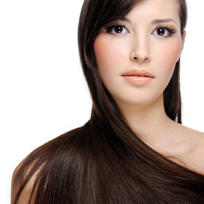 portrait of beautiful young woman with luxuriant healthy long hair